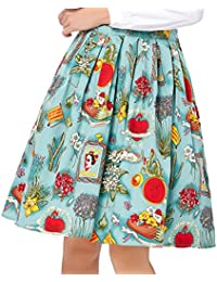 GRACE KARIN A-Line Pleated Vintage Skirts for Women...
