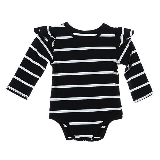 6b8dc09225a9 Amazon.com  chinatera Baby Boys Long Sleeve Striped Bodysuit Romper ...