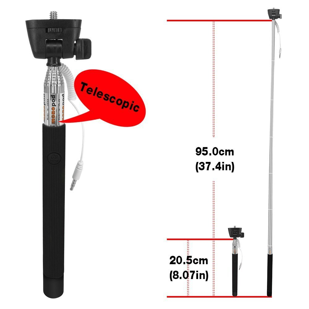 100pcs Bulk Sales No Battery No Bluetooth No Wifi Portable Foldable Extendable Durable Universal Selfie stick Adjustable Phone Holder Mount Stand for IOS Android Smartphones Apple iPhone 6 Plus Promo by Generic (Image #5)