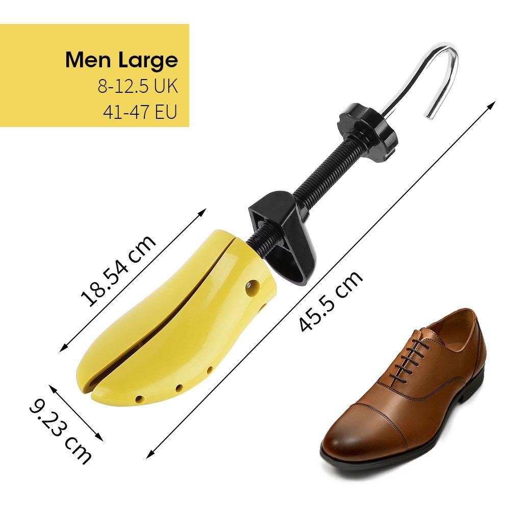 Nincha profesional estirador de zapatos de plástico duro árbol de zapato, longitud ajustable, la anchura de horma de zapato durable para hombres y mujeres ...