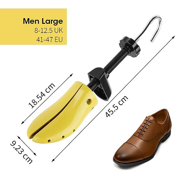 Nincha profesional estirador de zapatos de plástico duro árbol de zapato, longitud ajustable, la anchura de horma de zapato durable para hombres y ...