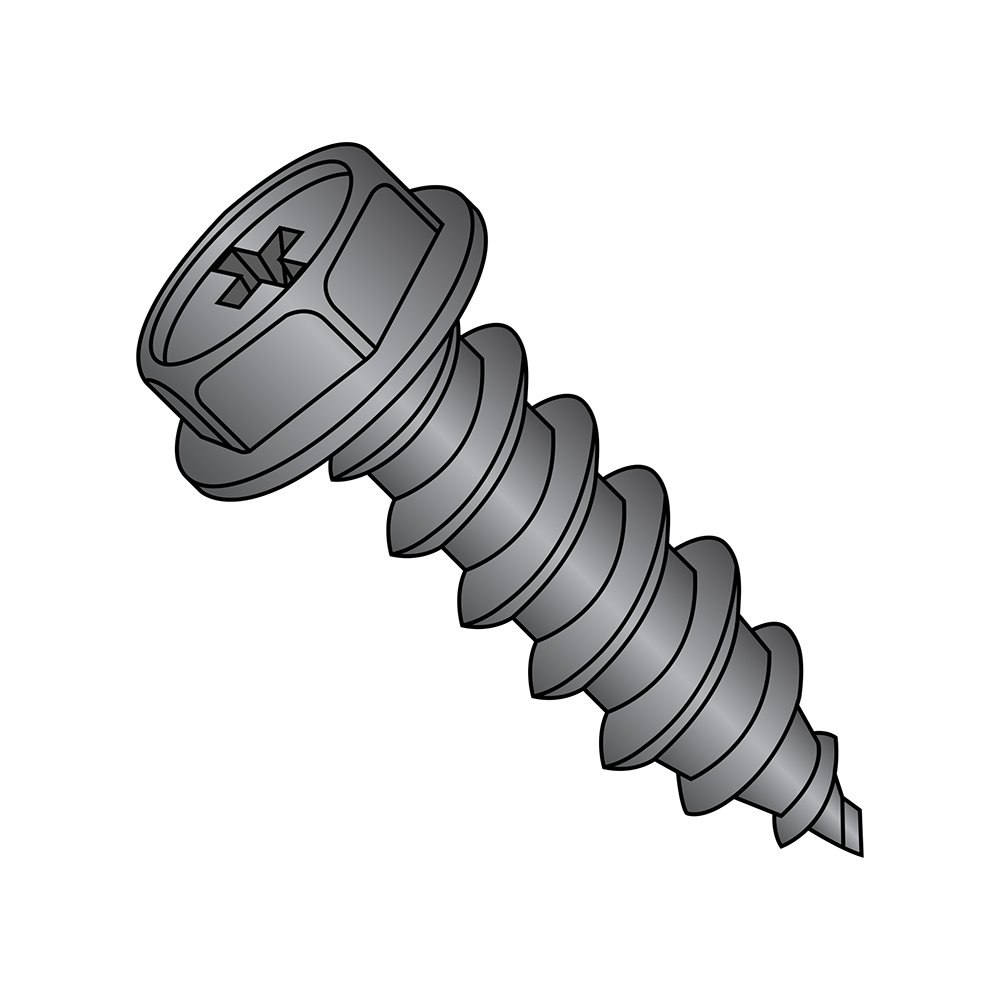 #8-15 Thread Size Zinc Plated 3-1//2 Length Phillips Drive Steel Sheet Metal Screw Pack of 25 Pack of 25 Type A Small Parts 0856APW Hex Washer Head 3-1//2 Length