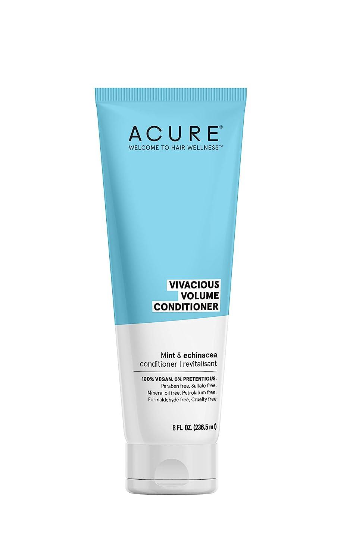 ACURE Vivacious Volume Conditioner - Mint & Echinacea | 100% Vegan | Performance Driven Hair Care | Increases Volume, Boosts Fine & Limp Strands | 8 Fl Oz