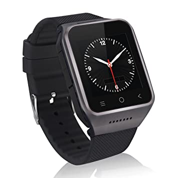 Zgpax PW6-B Smartwatch Movil 3g Libre (Android 4.4,Dual Core 512MB RAM, 8GB ROM, Cámara 2.0MP, Bluetooth Email GPS WIFI), Negro