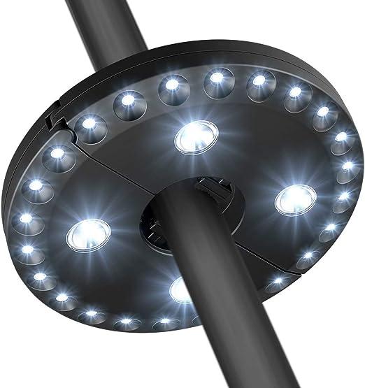 Luz del paraguas del patio 28 luces llevadas Luz de jardín sin hilos Batería accionada al