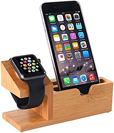 Amazon Com Compatible With Apple Watch Stand Usb Charging Stand Hunter K Phone Stand With 3 Usb Charging Port Bamboo Wood Charging Dock Station For Apple Watch Se 6 5 4 3 2 1 Iphone 12 11 Pro Max X Xs Xr Xs