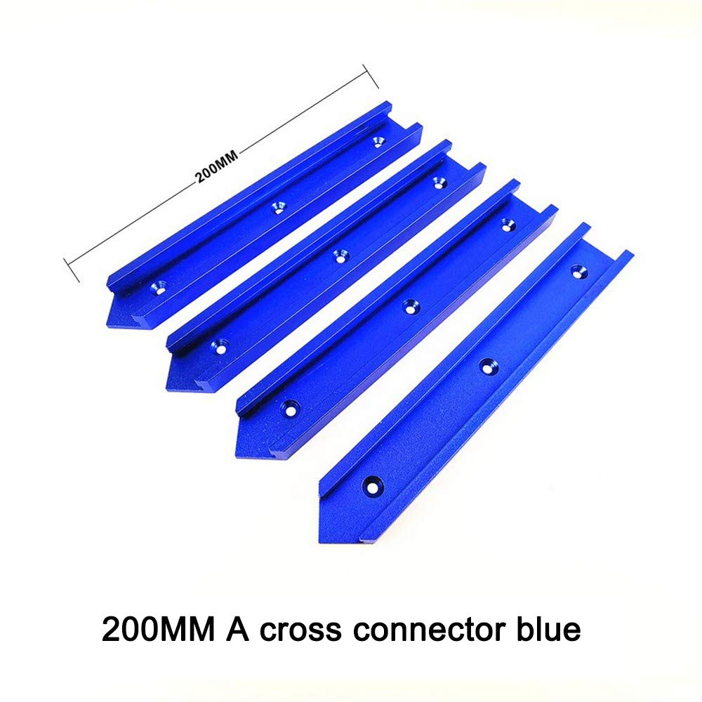 Lot de 30 rails de guidage en T en aluminium