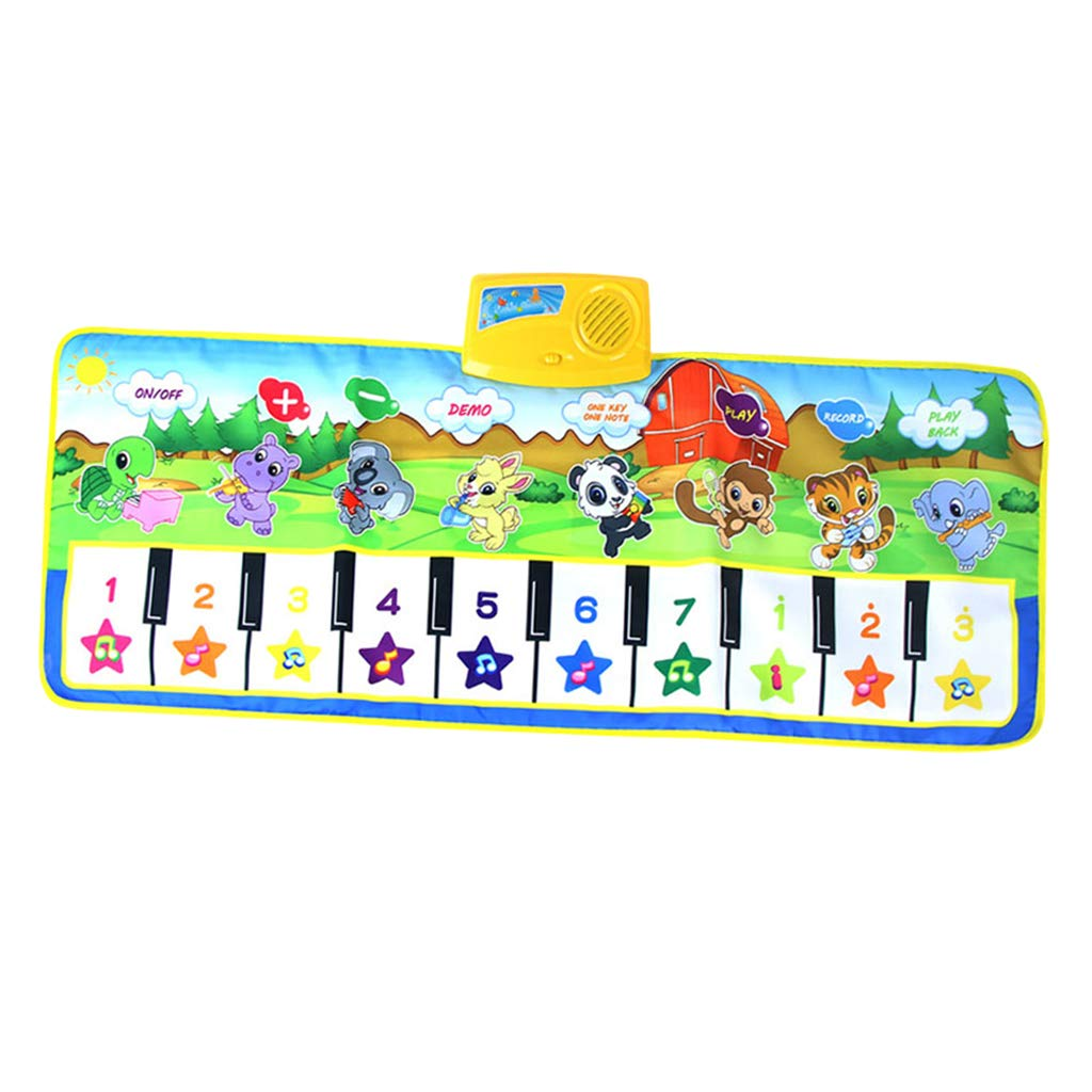 SM SunniMix Durable Piano Mat Electronic Music Carpet Touch Play Blanket, Perfect for Kids 2 to 5 Year Olds Dance & Learn (39x14 inch) by SM SunniMix (Image #6)