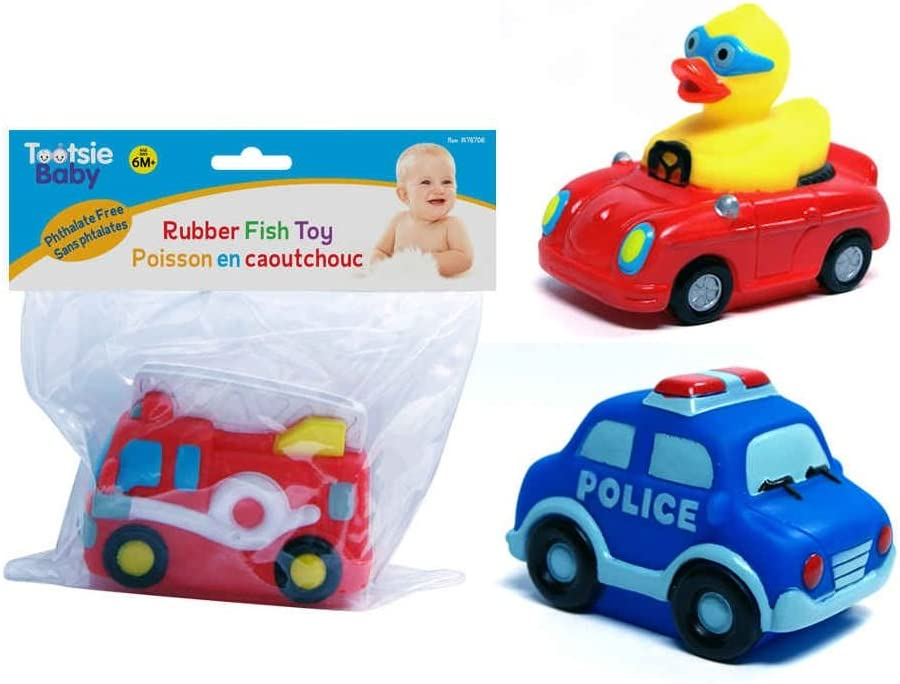 Tootsie Baby Squeaker Fun Cars Bathing Toys Set of 3