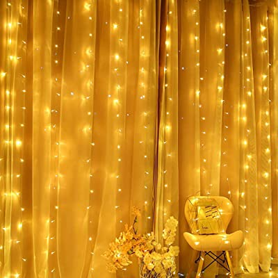 TOFU 300 LED Window Curtain String Lights with 8 Modes
