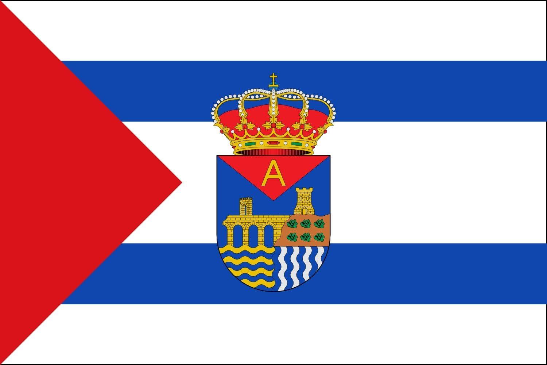 magFlags Bandera Large Garrovillas de Alconétar, Cáceres, España | Bandera Paisaje | 1.35m² | 90x150cm: Amazon.es: Jardín
