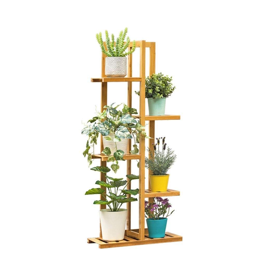 5tier Flower Frame Bamboo Craft Flower Display Stand, Multi-Layer Flower Pot Rack Garden Balcony Indoor Storage Rack Rack (Size   5tier)