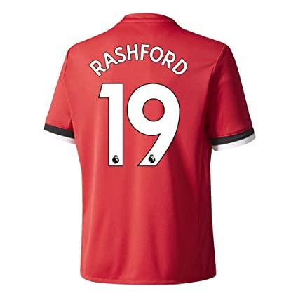 fcbb5e96 Manchester United Home Rashford Jersey 2017 / 2018 (Authentic EPL Printing)  - S