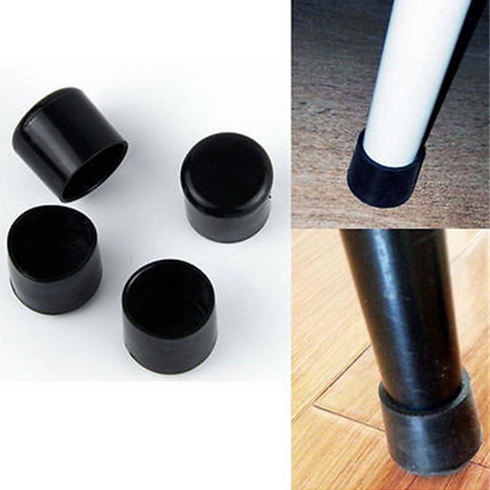 antiara/ñazos para tableta//patas de cabello color negro 32 mm As Picture Show 4 piezas de tapones de goma para las patas de las sillas de mesa protector de suelo