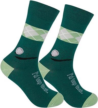 Funatic: Golf Socks - I'd Tap That - Funny Mens Socks - Novelty Socks - Golf Dress Socks - Funky Mens Socks - Golf Socks Men - Funny Golf - Mens Golf Socks - Crazy Mens Socks - Men Funny Socks