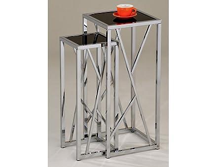 Superior Viva Tall Nest Of 2 Tables   Set Of 2 Nesting Tables   Finish : Chrome