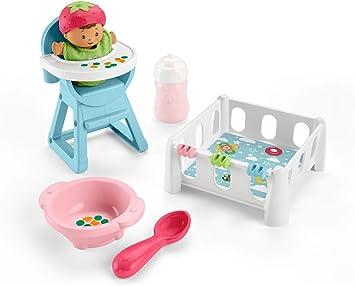 Fisher Price - Little People Bebe Siesta y Comidita (Mattel GKP65): Amazon.es: Juguetes y juegos
