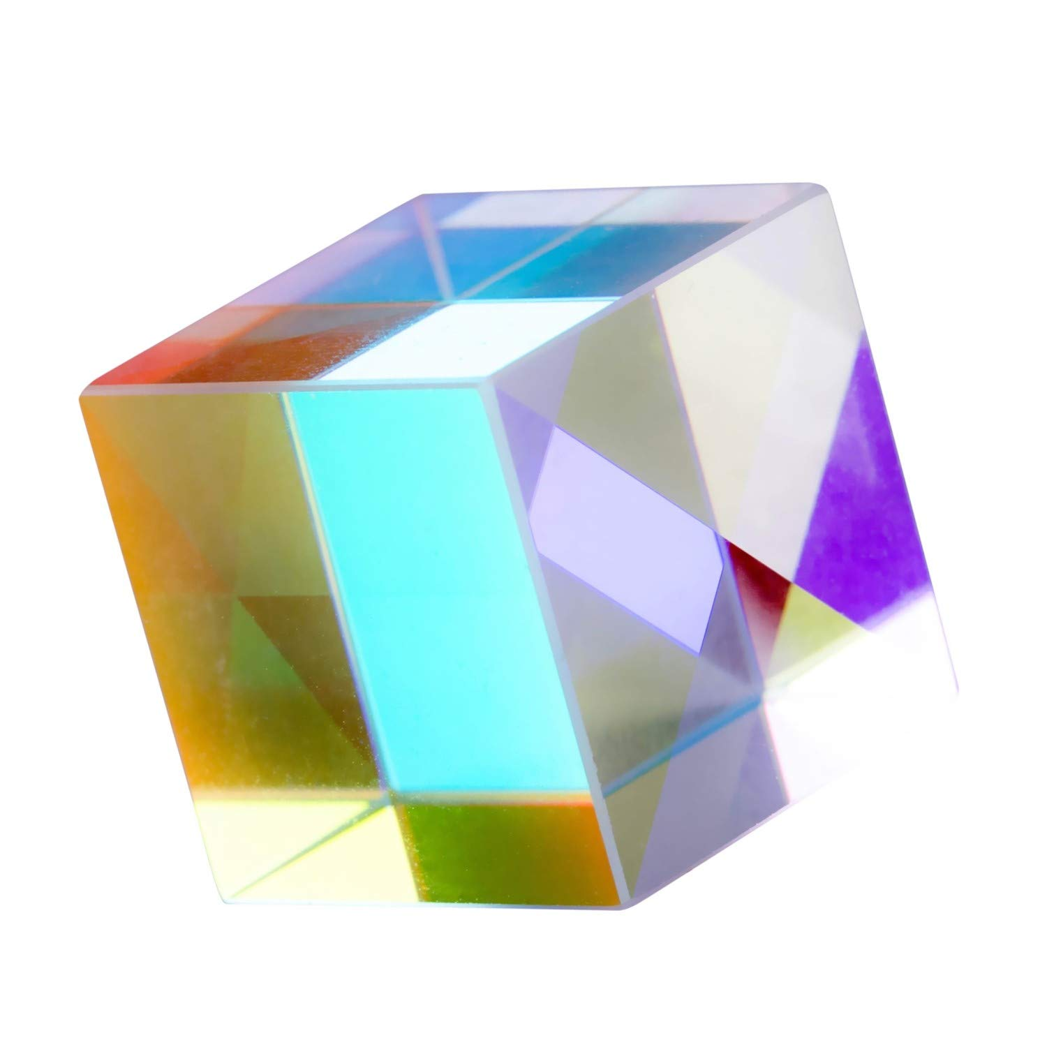 JZENT 25mm Optical Glass Prism RGB Dispersion Prism Physics Light Spectrum Educational Model Outdoor Take Pictures Camera Filter Photo Photography Tool K9-03