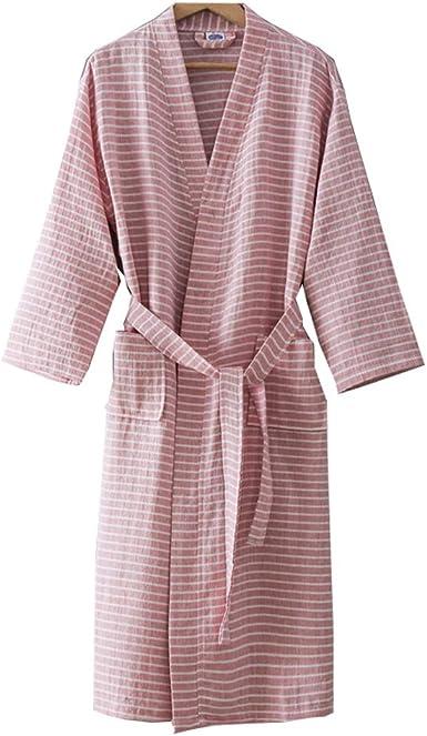 Vestido de algodón de Punto para Mujer Kimono japonés Pijama de Traje de tamaño L, B: Amazon.es: Ropa y accesorios