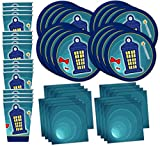 Time Traveler Birthday Party Supplies Set Plates Napkins Cups Tableware Kit for 16 by Birthday Galore