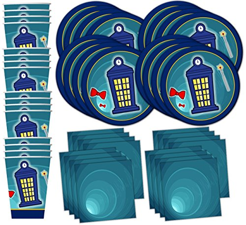 Time Traveler Birthday Party Supplies Set Plates Napkins Cups Tableware Kit for 16 by Birthday Galore -