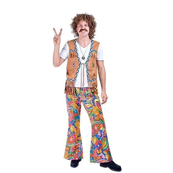 Charm Rainbow Disfraz de Hippie Pantalones Años 60s para ...