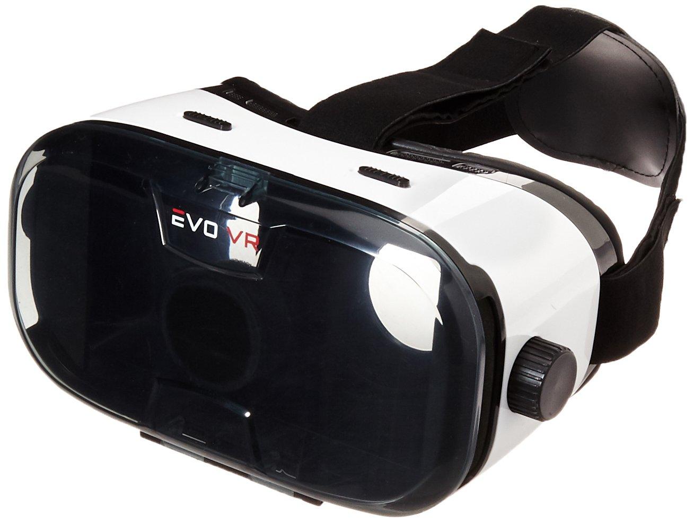 61cd29491ba1 Amazon.com  Merkury Innovations 3D EVO MEGA VR with Headphones Virtual  Reality Headset Video Glasses for iPhone