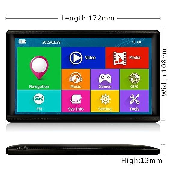 17,78 cm GPS y Android 4,0 Tablet para camiones, coche,