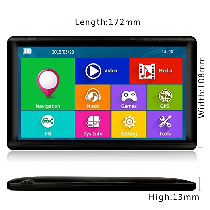17,78 cm GPS y Android 4,0 Tablet para camiones, coche ...