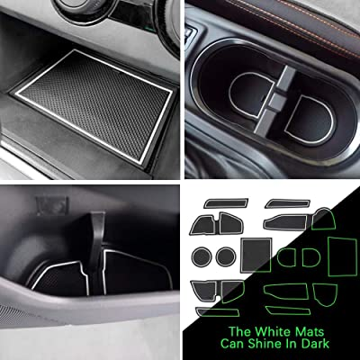 Auovo Anti-dust Door Mats for 2020 2020 2020 Subaru Crosstrek and Impreza Gate Door Liners Inserts Cup Console Mats Interior Accessories (Pack of 14) (White): Automotive
