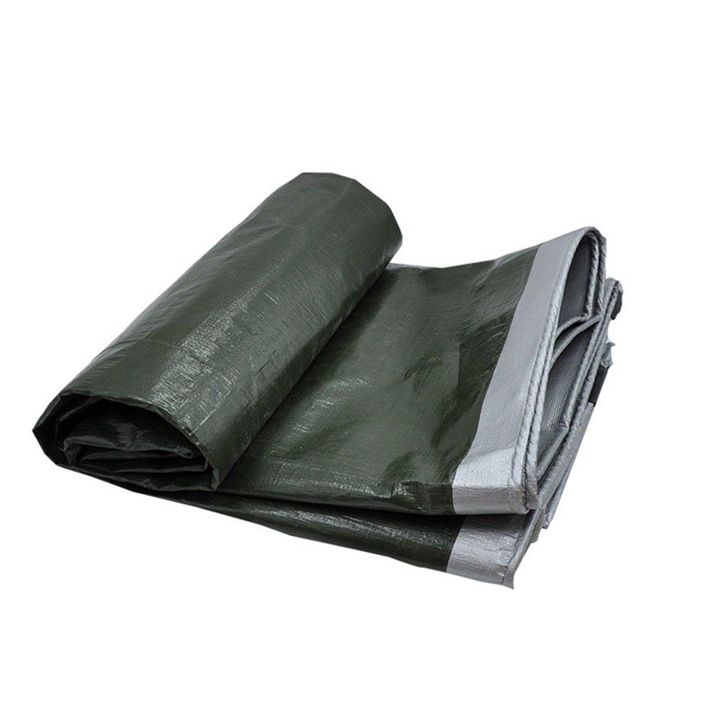 BÂche BÂche de prougeection en plastique de qualité de bÂche de prougeection de pluie de tissu d'ombre de tissu d'ombre, épaisseur 0.35mm, 180g   m2, options de 17 tailles, vert d'armée + argent, note  se  66