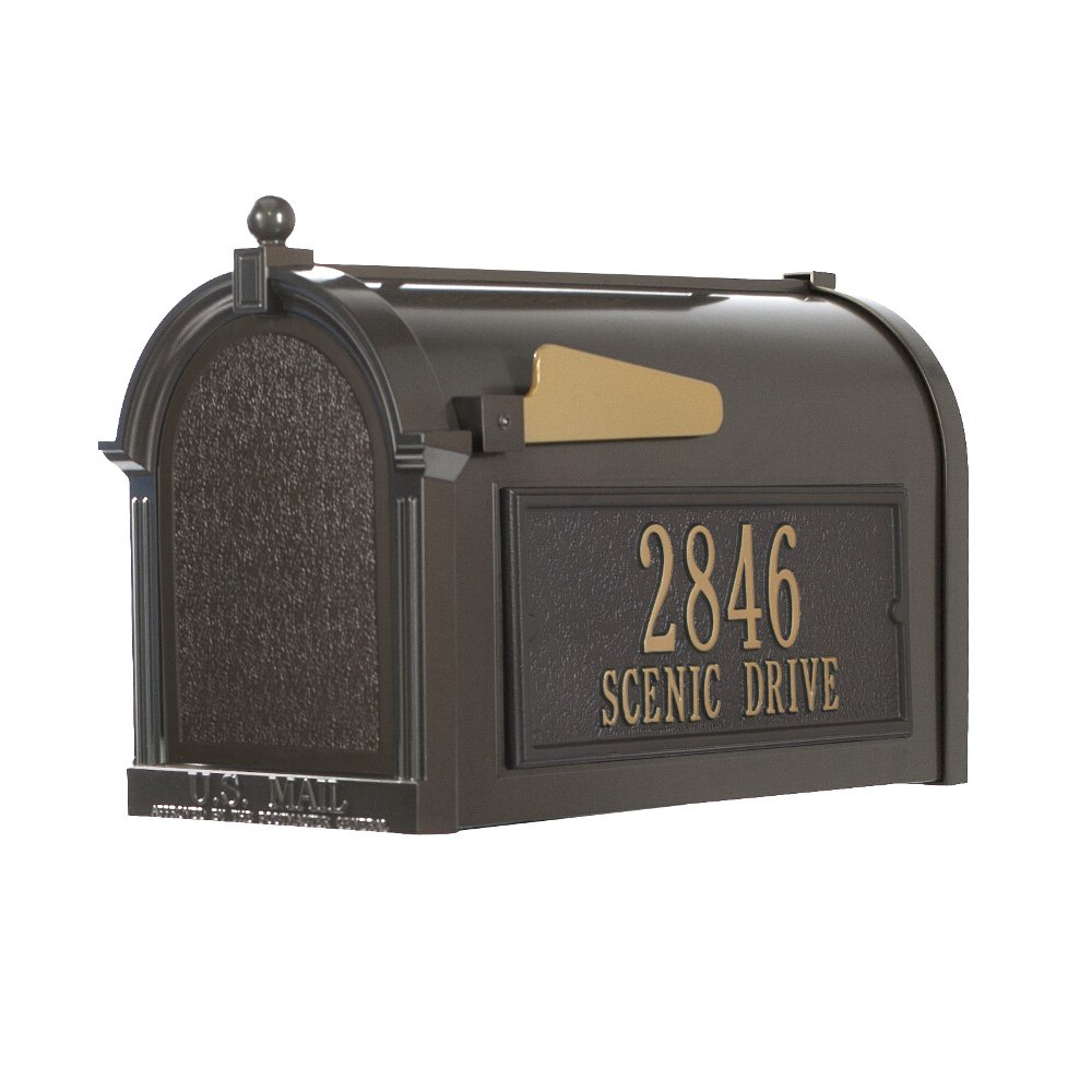 Whitehall Products 16306 Superior Mailbox Package,French Bronze (2-Plaque Package, French Bronze)