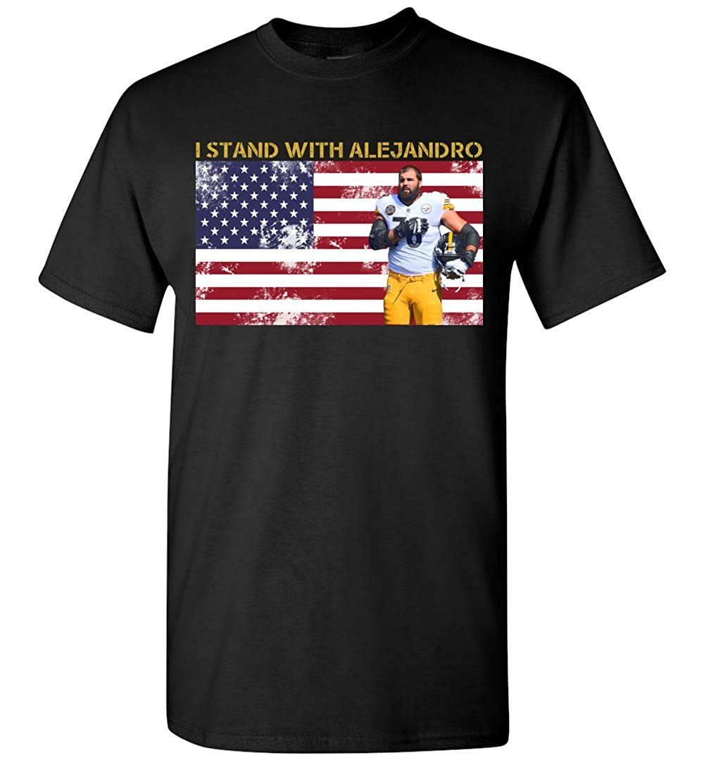 TEEPAAA I Stand with Alejandro 78 Patriotic USA T-Shirt