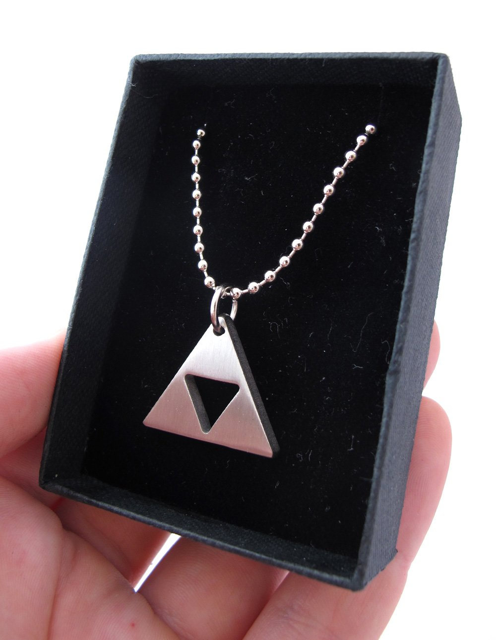 Zelda Triforce Matte Necklace - Stainless Steel by Milkool (Image #6)