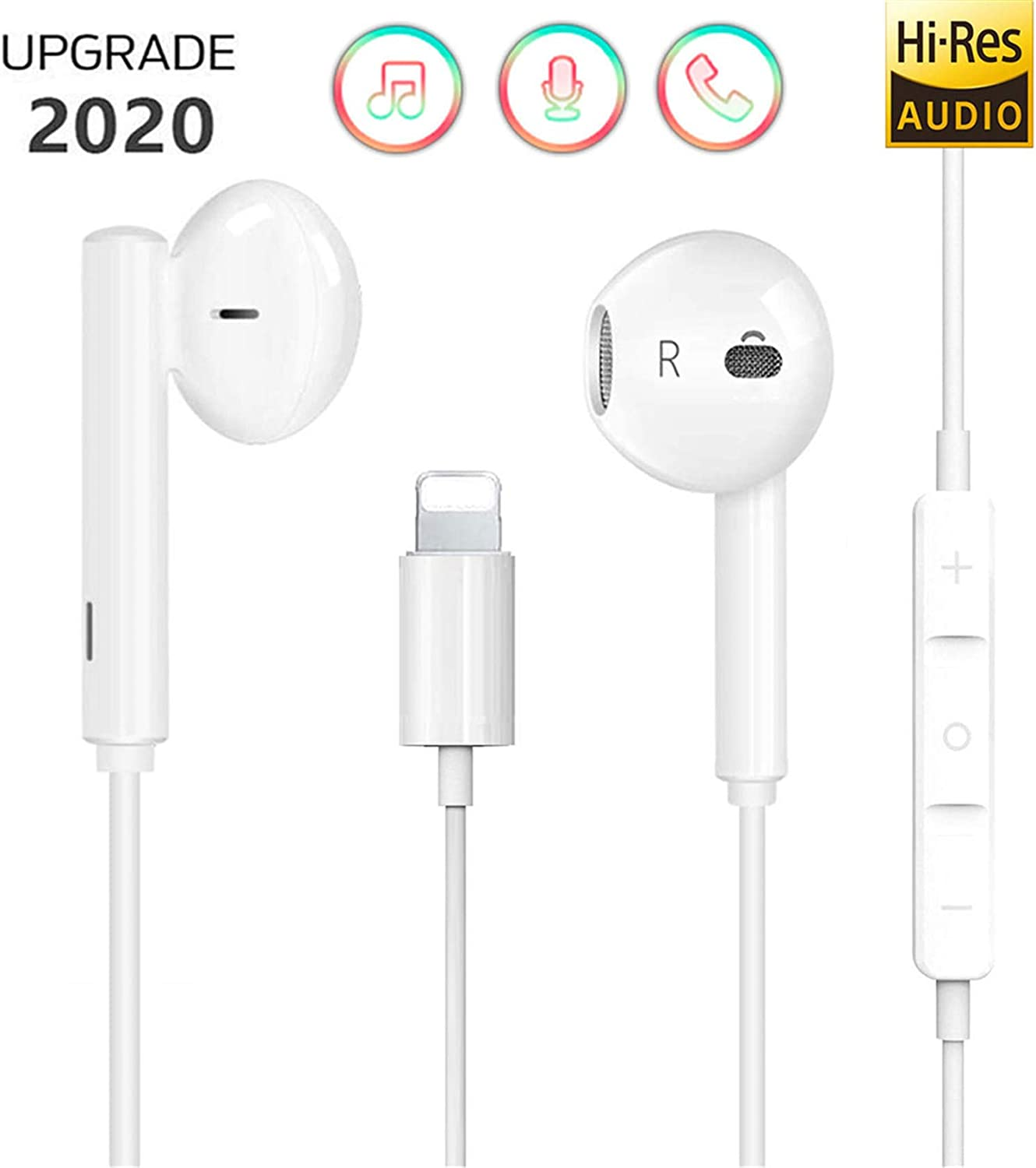 Earphones for iPhone 11 Earbuds Connector Wired In Ear