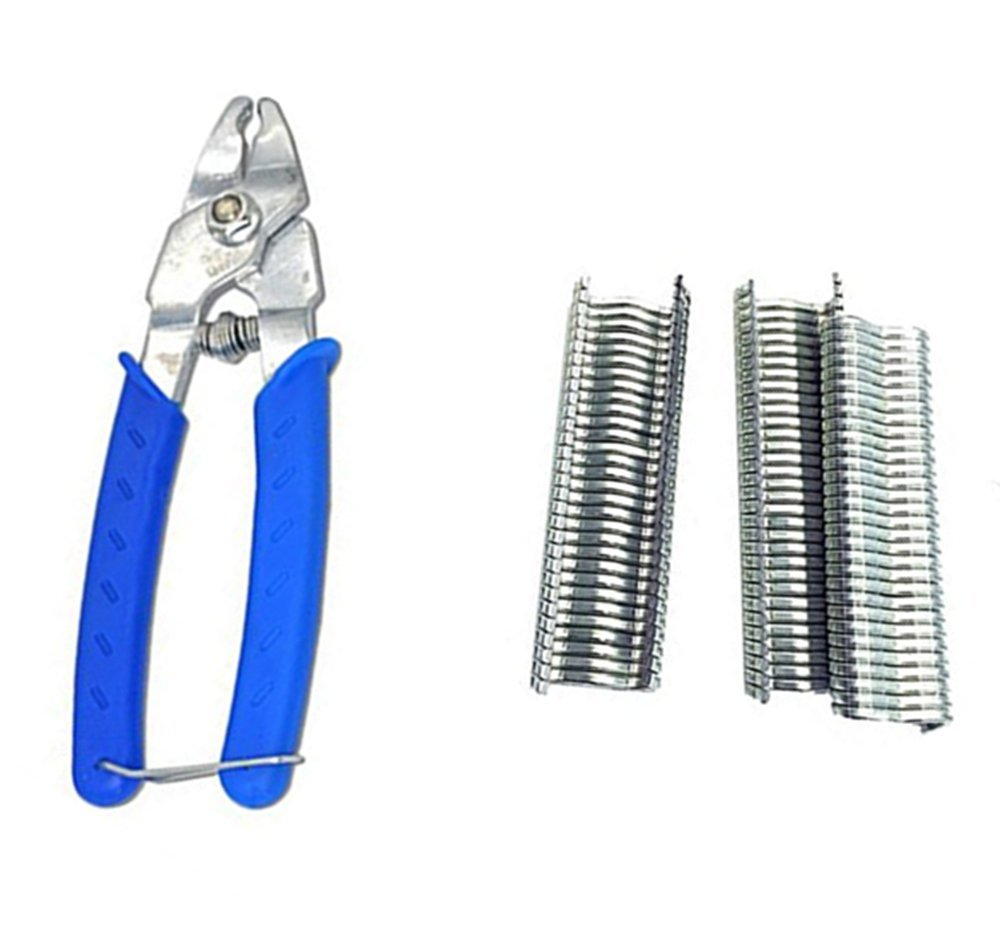 Good news Poultry Bird Quail Pet Cage Fastener Pliers Installation Clamp Tool M Shape Nail