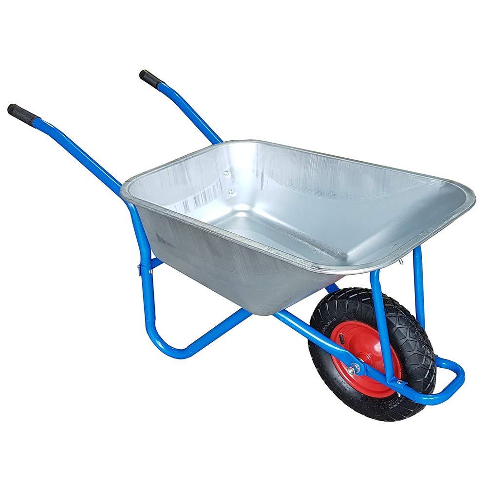 TAHA® 100L-180KG Wheelbarrow Garden Wheel Barrow Large Galvanised Pneumatic Tyre TAHA®