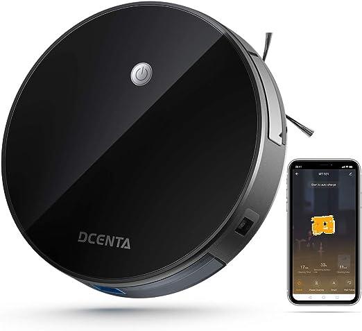 Robot aspirador con función WLAN, Dcenta diseño extremadamente ...