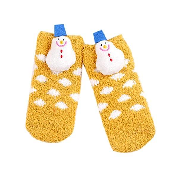 Mengonee Adultos Niños del Padre-descendiente caliente de Navidad Calcetines estilo de dibujos animados de poliéster antideslizante estéreo Doll piso ...