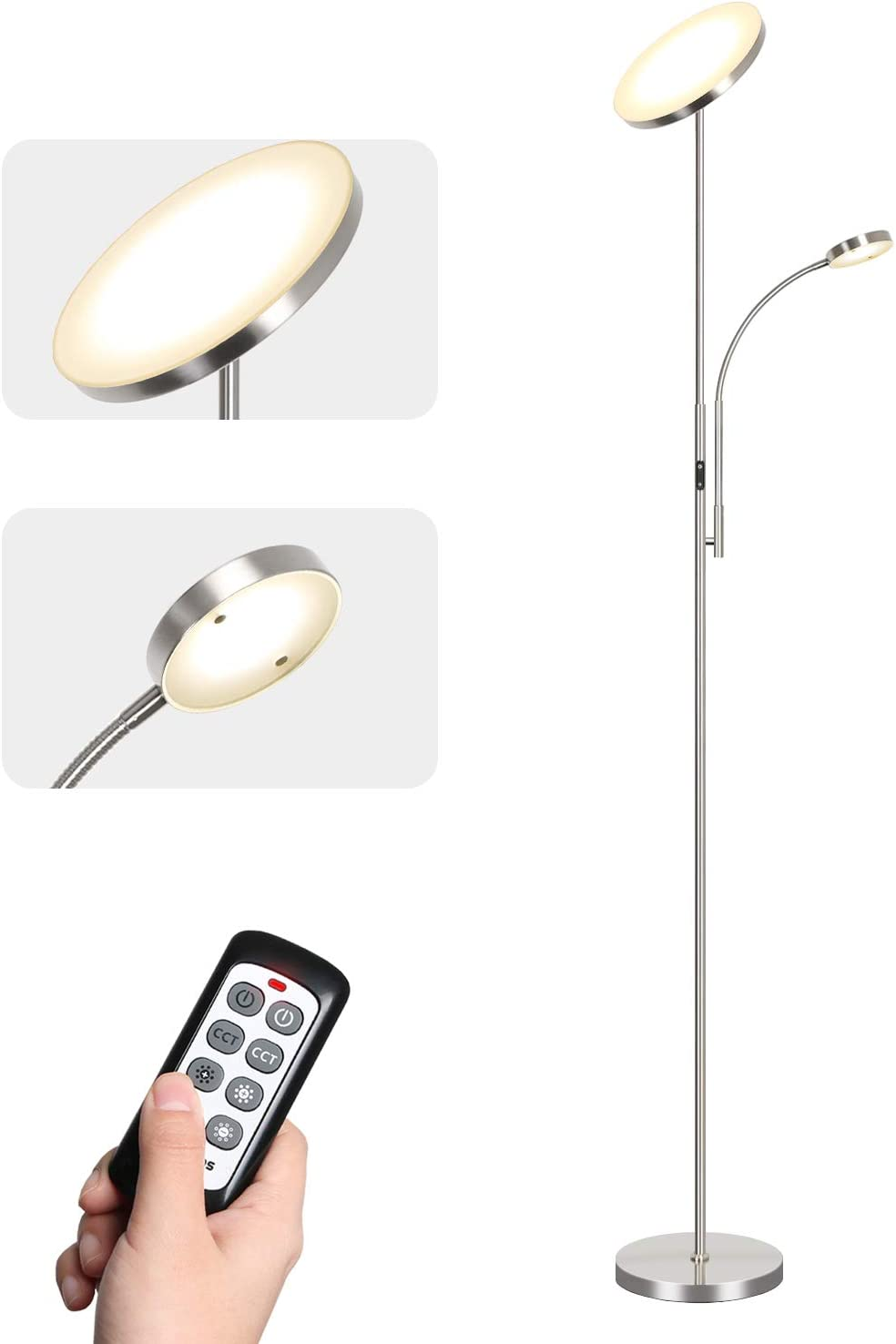 Tomons Stehlampe Led Dimmbar Stehleuchte Stufenlos Dimmbar