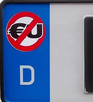 2x Anti Eu Kennzeichenaufkleber Aufkleber Autoaufkleber Kennzeichen Nummernschildgegen Eueu Feldeu Verbot