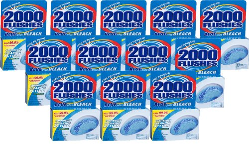 2000FlushesBluePlusBleach Automatic Toilet Bowl Cleaner, 3.5 OZ [12-Pack] by 2000 FLUSHES (Image #1)