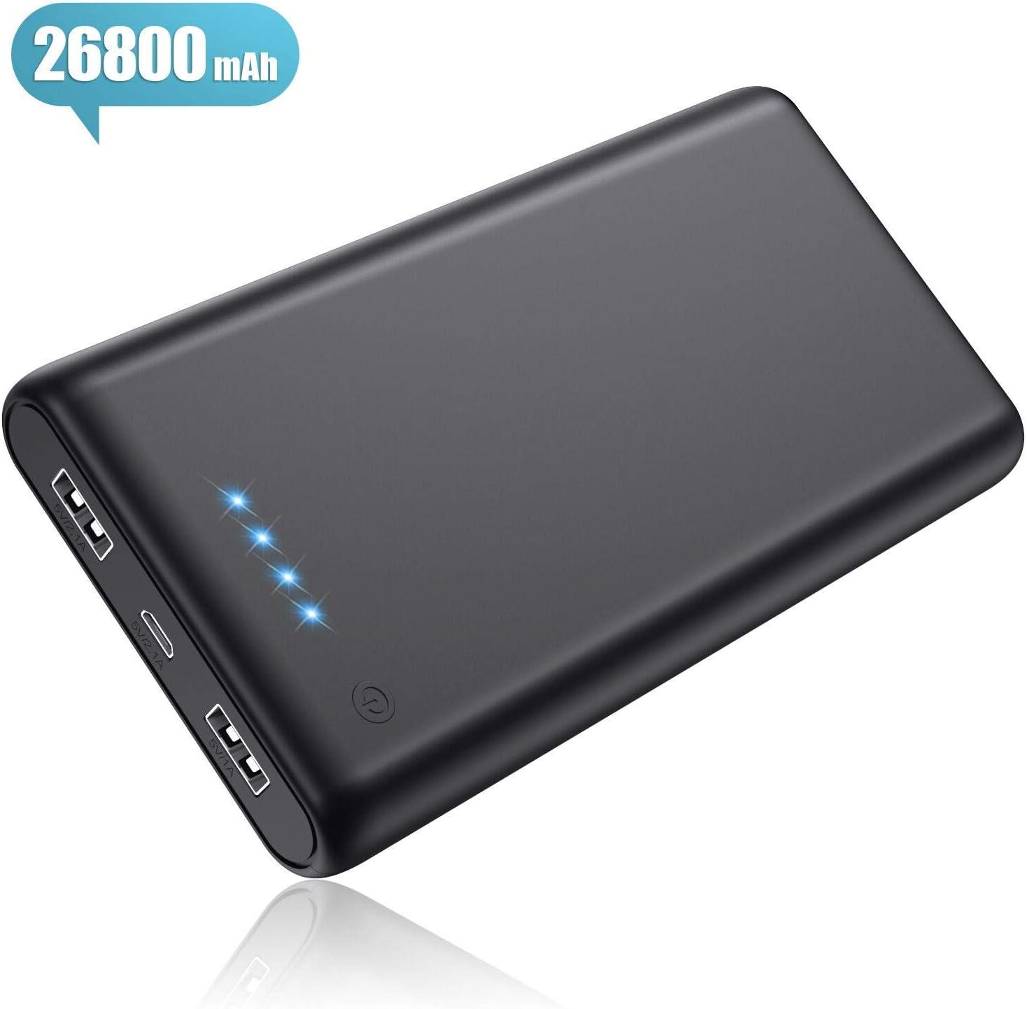 Power Bank 26800mAh,Pxwaxpy Caricabatterie Portatile 2 USB Porte, Alta Capacità...