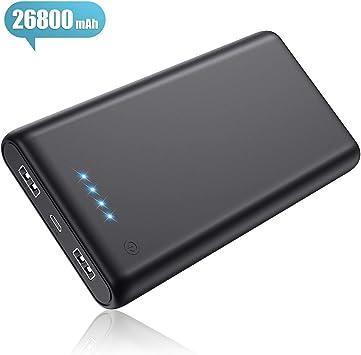Pxwaxpy Batería Externa para Móvil 26800mAh, 【2019 Nueva Version ...