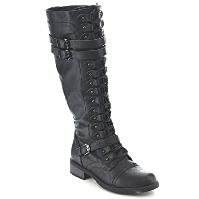 Timberly-65 Lace up Knee Boots