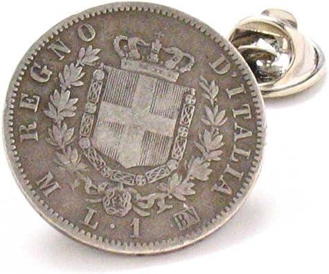Italia moneda Tie Tack – Pin italiano Italia Roma Venecia Roma ...