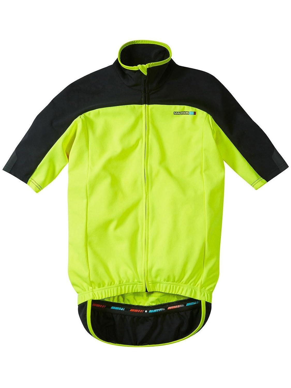 2016 Madison  Herren Optimus Short Sleeve Thermal Jersey Hi-Vis Gelb Small