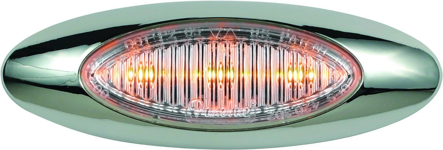 Rectangle 1 Bulb Amber with Grommet and Pigtail GG Grand General 80950 Sealed Light