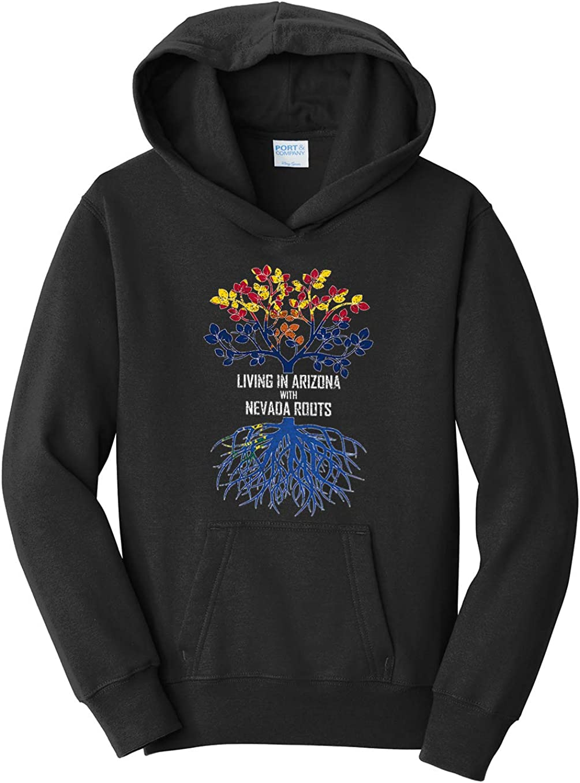 Tenacitee Girls Living in Arizona with Nevada Roots Hooded Sweatshirt