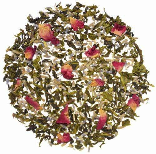 The Indian Chai - Lavender Rose Green Herbal Tea, Stress Relieving & Relaxing, (Lavender Green Tea)